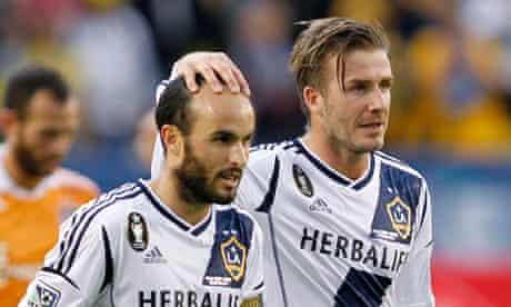 David Beckham and Landon Donovan