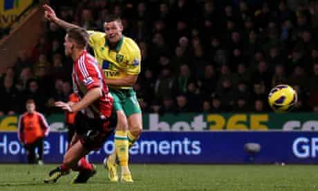 Anthony Pilkington scores for Norwich v Sunderland