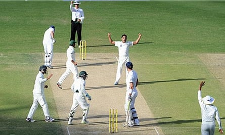 Kevin Pietersen is given out during the third Test