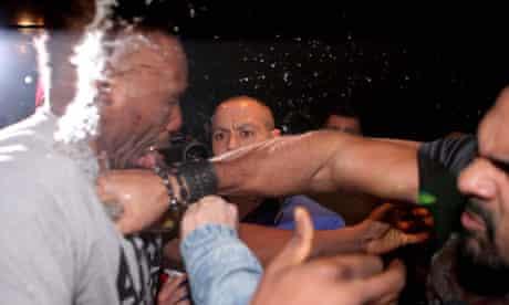 David Haye and Dereck Chisora brawl