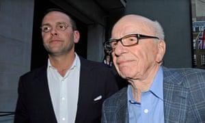 James Murdoch and Rupert