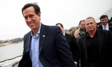 Rick Santorum on the stump in Texas