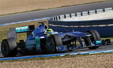 Nico Rosberg of Mercedes during F1 winter testing at the Circuito de Jerez in Spain