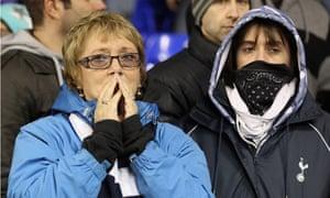Distraught fans at White Hart Lane
