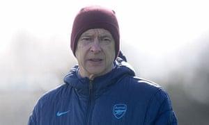 Arsenal's Arsène Wenger at training