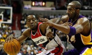721d9716fc5 Los Angeles Lakers Kobe Bryant vs Washington Wizards  Trevor Booker