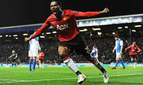 Antonio Valencia scores for Manchester United