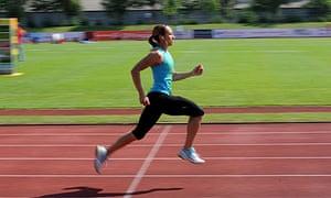 Jessica Ennis training in Götzis