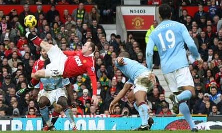 Wayne Rooney's overhead kick