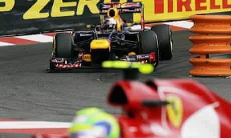 Sebastian Vettel in action for Red Bull at the Monaco Grand Prix