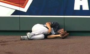 New York Yankees Mariano Rivera grimaces