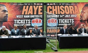 The Haye-Chisora fight announcement
