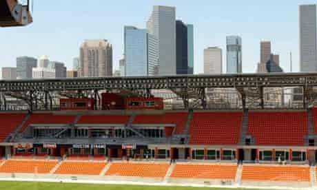 Houston Dynamo and the city skyline