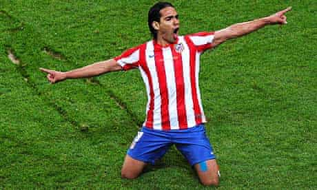 Radamel Falcao Atletico Madrid vs Athletic Bilbao