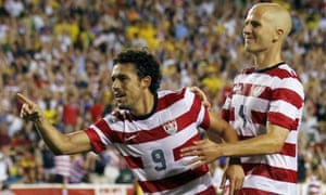 Herculez Gomez and Michael Bradley, USA