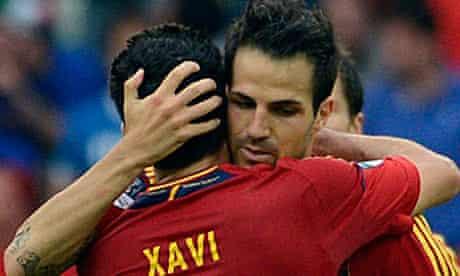 Cesc Fábregas and Xavi Hernández
