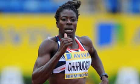 Christine Ohuruogu  in action