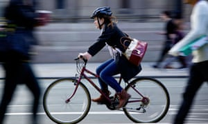 Cyclist in Manchester