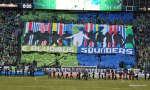Seattle Sounders e pluribus banner