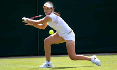 Laura Robson during her match with Francesca Schiavone