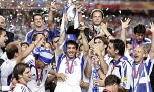 Greece celebrate winning 2004 Euros