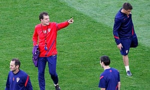 Croatia's head coach Bilic attends an official training