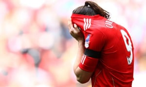Andy Carroll reacts