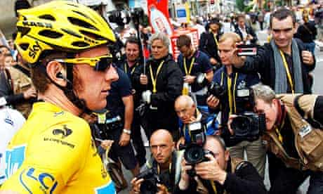 Bradley Wiggins of Team Sky at the Tour de France