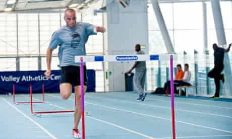 Andy Turner trains at the Lee Valley performance centre