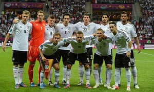Germany team before their Euro 2012 match against Italy