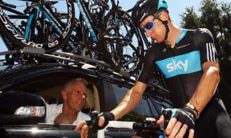 Bradley Wiggins with Shane Sutton