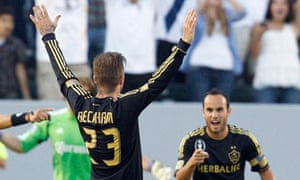 David Beckham and Landon Donovan, LA Galaxy vs Chivas