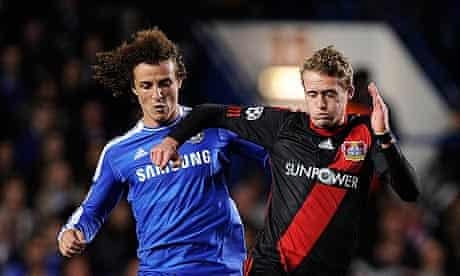 Andre Schurrle, right, goes past Chelsea's David Luiz during a Champions League tie last season