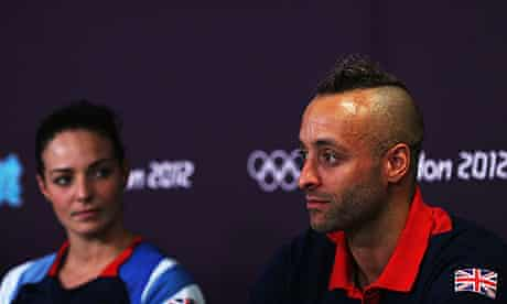 Keri-Anne Payne, left, and James Goddard are part of Great Britian's Olympic swimming team