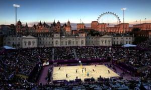 Brazil versus Norway Beach Volleyball