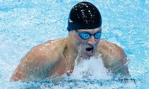 Ryan Lochte on his way to victory in the men's 400m medley final at the London 2012 Olympics