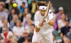 David Ferrer at Wimbledon 2012