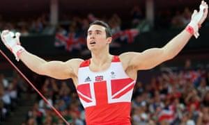 Kristian Thomas of Great Britain celebrates