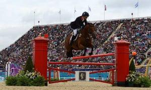 Zara Phillips knocks down a fence on High Kingdom