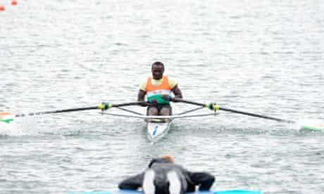 Niger's Hamadou Djibo Issaka at Eton Dorney