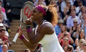 Serena Williams celebrates her victory