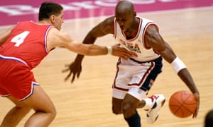 cheap for discount 52668 aa3f7 Michael Jordan in action in the 1992 Olympic basketball final in which the  US beat Croatia