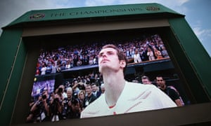 Andy Murray fights back the tears