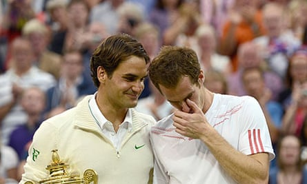 Wimbledon singles finalists Roger Federer and Andy Murray