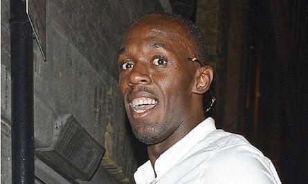 Usain Bolt entering a nightclub in London
