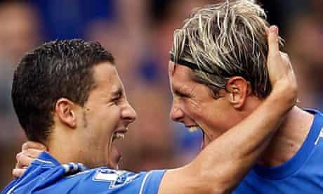 Eden Hazard and Fernando Torres