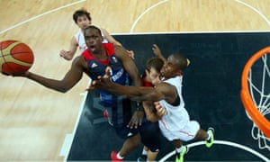 Luol Deng of Great Britain shoots