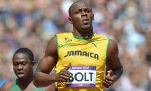 Jamaica's Usain Bolt competes
