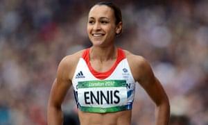 Britain's Jessica Ennis celebrates