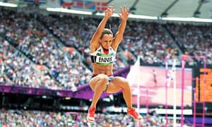 Jessica Ennis in the Olympic heptathlon's long jump